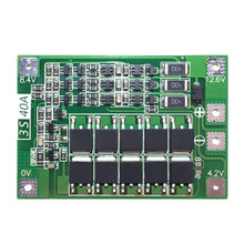 3S 40A For Screwdriver 12V Li-Ion 18650 Bms Pcm Battery Protection Board Bms Pcm With Balance Liion Battery Cell Pack Module(China)