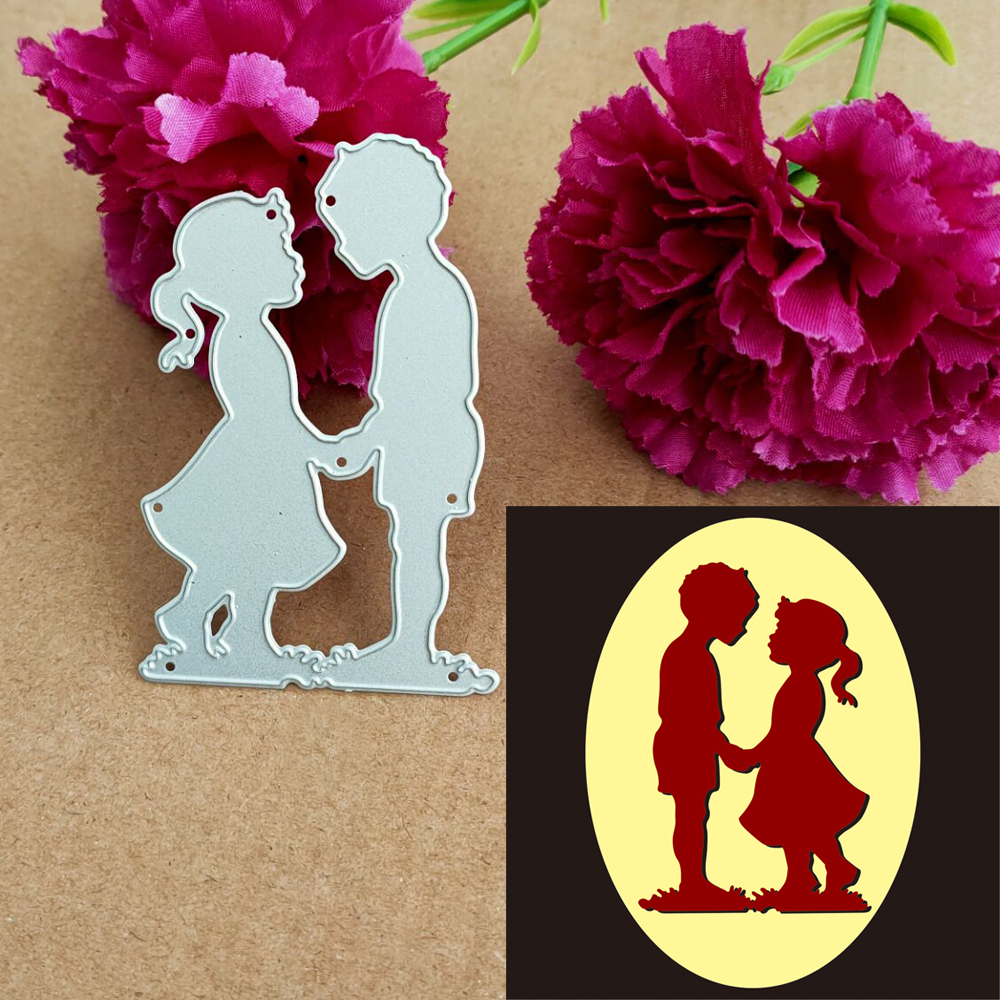 The New Cutting Metal Die Decoration For Boys And Girls Is Used For Cutting Edge Of Scrapbook Punching Card Cutting Process.