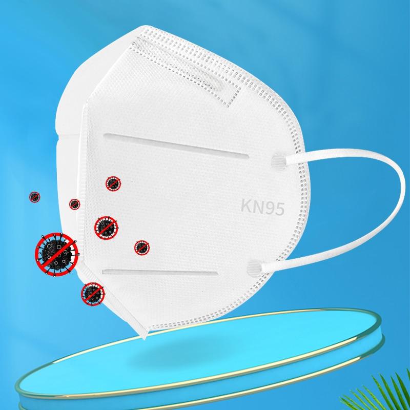 10pcs  Respirator Dustproof Face Mask Unisex Facial Protective Cover Masks  Kn95 N95 Coronavirus Filtration Features As KF94 FFP