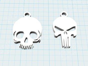 Skull Pendant Custom order highqualityhighprecision digital models 3D printing service Creative Jewelry ST511