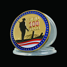 1918-2018 Armistice Day Gold Coins WWI 100th Anniversary For Collection Coin