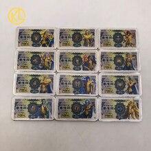 12 עיצובים מזל יפני אנימה Saint Seiya ין שטר כסף בר עבור קלאסי ילדות זיכרון אוסף מתנות