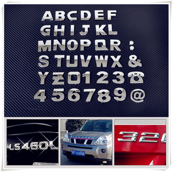 Car auto DIY Letter Alphabet number Stickers Logo for Volkswagen VW B6 Jetta Mk5 MK6 Any Cars Phaeton 4.2 EOS 3.2 V6 image