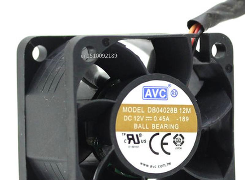 Free Shipping 4028 DB04028B12M-189 12V 0.45A 4cm 3PIN Server Cooling Fan