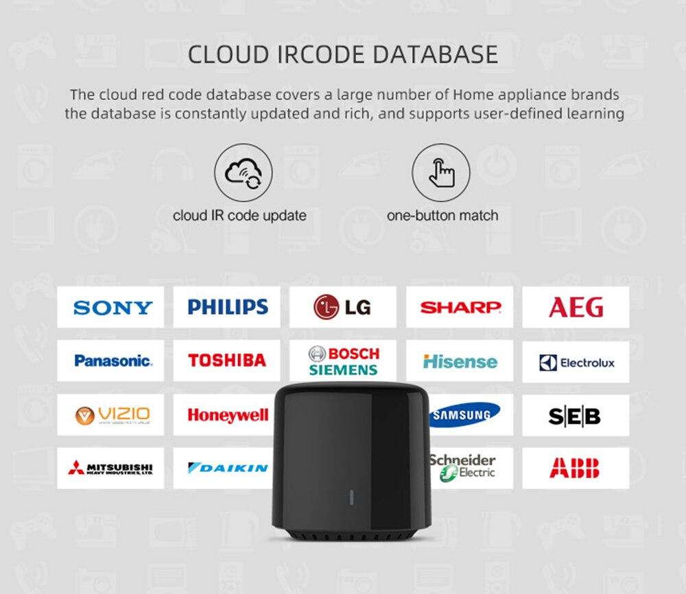Купить с кэшбэком Broadlink RM4C Mini Bestcon Smart Home Universal Switch Intelligent WiFi/IR/4G Wireless Remote Control Work with Google Home