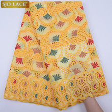 Hot Selling 100% Cotton African Dry Lace Fabric Nigerian Lace Fabric 2019 High Quality Swiss Voile In Switzerland A1764