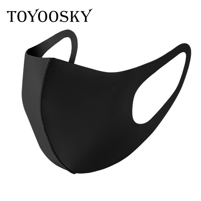 in Stock PM2.5 kpop fashion cloth poly cotton mouth face mask black washable masque protection fabric Reusable Cover