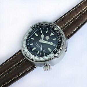 Image 2 - San Martin nowy tuńczyk SBDC035 zegarki ze stali nierdzewnej nurkowanie zegarki 30ATM VS37 zegarek kwarcowy dla kobiet mężczyzn