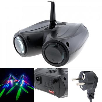 Stage Light 20W Portable LED Lights Laser Effect Waterproof Double Airship for DJ Disco Party Wedding