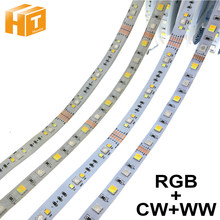¡RGBCCT tira de LED de 5050 12 V/24 V 5 Color en 1 Chips RGB + WW + CW 60 LEDs/m 5 m/lote RGBW LED tira de luz 5 m/lote!