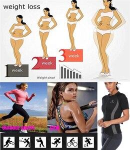Image 2 - LANFEI Camiseta de neopreno moldeadora de cuerpo para mujer, Top deportivo para perder peso, entrenador de cintura, camisetas deportivas adelgazantes