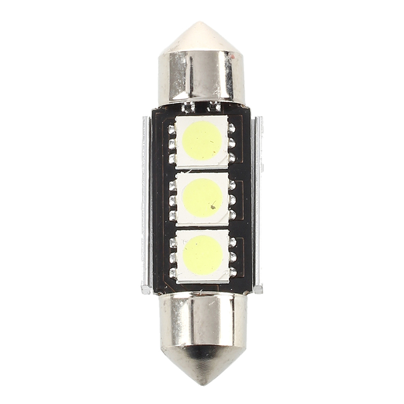 H9aa1bf5bf932445094544a4753e5c3c4r - 2X 36MM Bulb Lamp Super Bright 3 LED White Car Interior Reading Dome CANBUS Marker Lamp Turn Side Bulbs