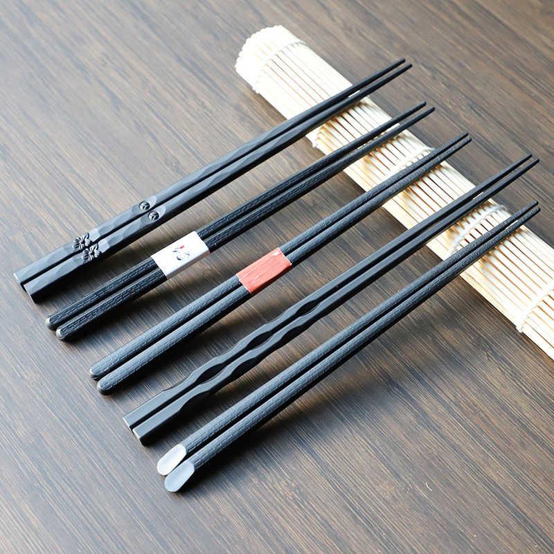 1 쌍 초밥 용 젓가락 미끄럼 방지 식품 스틱 Chop 스틱 재사용 가능한 중국 젓가락 식기 선물 주방 도구