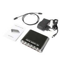 Óptico SPDIF 3,5 AUX Coaxial Digital a analógico 6 RCA de Audio HD de Rush 5,1 decodificador AC3 DTS Dolby amplificador con sonido surround convertidor