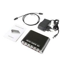 Spdif óptico 3.5 aux coaxial digital ao conversor analógico ac3 dts dolby surround amplificador de som 6 rca hd áudio rush 5.1 decodificador