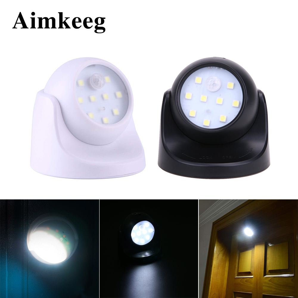 LED Wireless Motion Sensor Light 360 Degree Rotation Night Light SMD LED Wall Lamp PIR Infrared Detector Night Lamp For Stairs