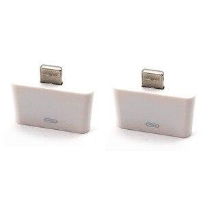 Лот из 2 предметов 8 pin типа «папа» к аудиокабель с переходником 30 pin типа «мама» кабель конвертер изменить адаптер для iPhone 4 4S iPad2 3 iPad Touch3 4 к ...