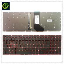 Backlit Teclado Inglês para Acer Original Nitro 5 AN515 AN515-51 AN515-52 AN515-53 AN515-41 AN515-42 AN515-31 N16C7 n17c1 EUA