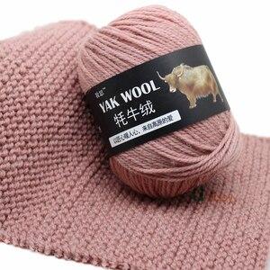 Image 3 - 5pcs 야크 양모 뜨개질을위한 좋은 소모사 혼합 된 크로 셰 뜨개질 뜨개질 스웨터 스카프 500/lot