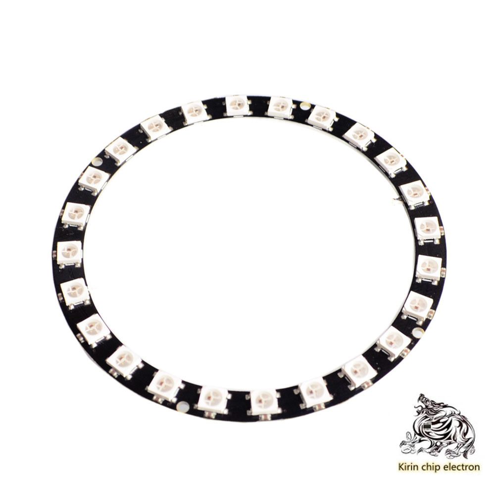 1pcs / Lot A05 24 Bit Ws2812 5050 RGB LED Intelligent Full Color RGB Ring Development Board Large Ring