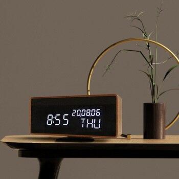 Electronic Bluetooth Digital Wooden Led Alarm Clock Weather Station Color Wooden Digital Alarm Clock Unique Alarm Clocks II50NZ