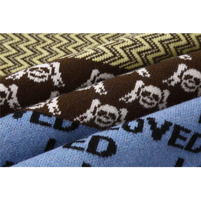 Vintage Knitted Cardigan Sweater Women Patchwork Denim Coat V Neck Long Sleeve Knitwear Casual Loose Outwear Female Tops 6