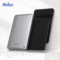 Netac Funda de disco duro carcasa de disco duro 2,5 SATA a USB 3,0 adaptador de SSD disco HDD tipo de caja C HD HDD externo carcasa