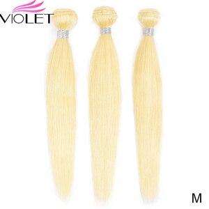 Image 1 - VIOLET Peruvian Straight 613 Blonde bundle Medium Ratio 8 26 Non Remy Human Hair Weave Tissage Blond Honey Hair 3/4 bundle Deal