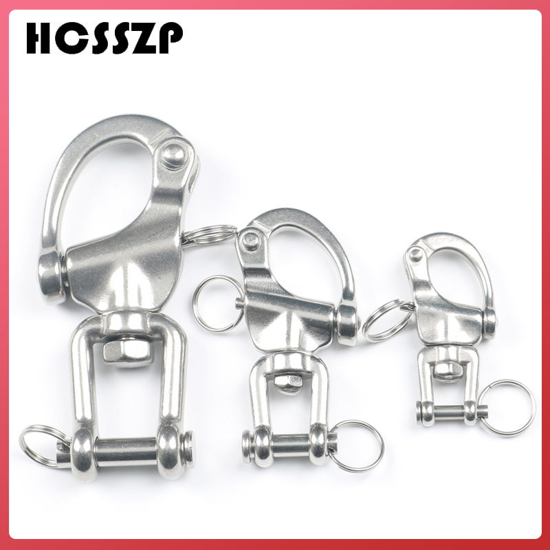 HCSSZP 70 mm 87 mm 128 mm 316 Stainless Steel Jaw Swivel Snap Tack Shackle for Sailboat Free Shipping-in Marine Hardware from Automobiles & Motorcycles