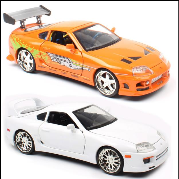 1:24 Toyota Supra 1995 Alloy Car Model,4 Door Car Toys,Simulation Collection Cars Model,free Shipping