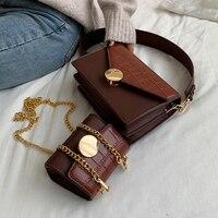 Crocodile Pattern Designer Handbag
