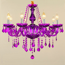 European Style Crystal Chandelier Kitchen Tools Bedroom Cafe KTV Color Candle Lamp Kitchen Island Lighting