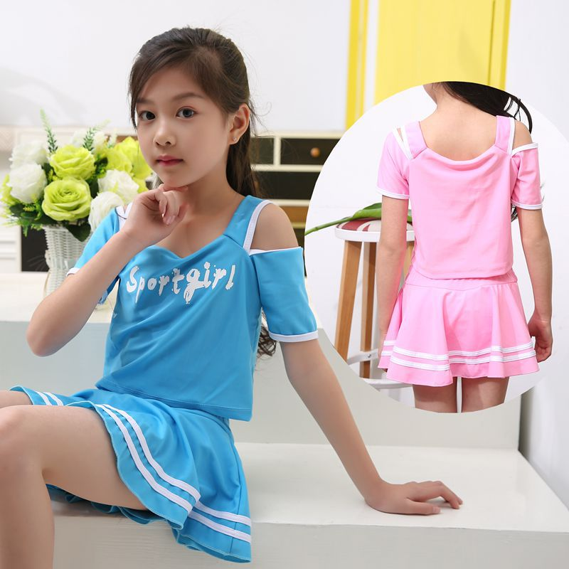 Xiao Shu KID'S Swimwear GIRL'S Split Skirt-Boxer South Korea Big Boy Athletic Cute Princess Tour Bathing Suit