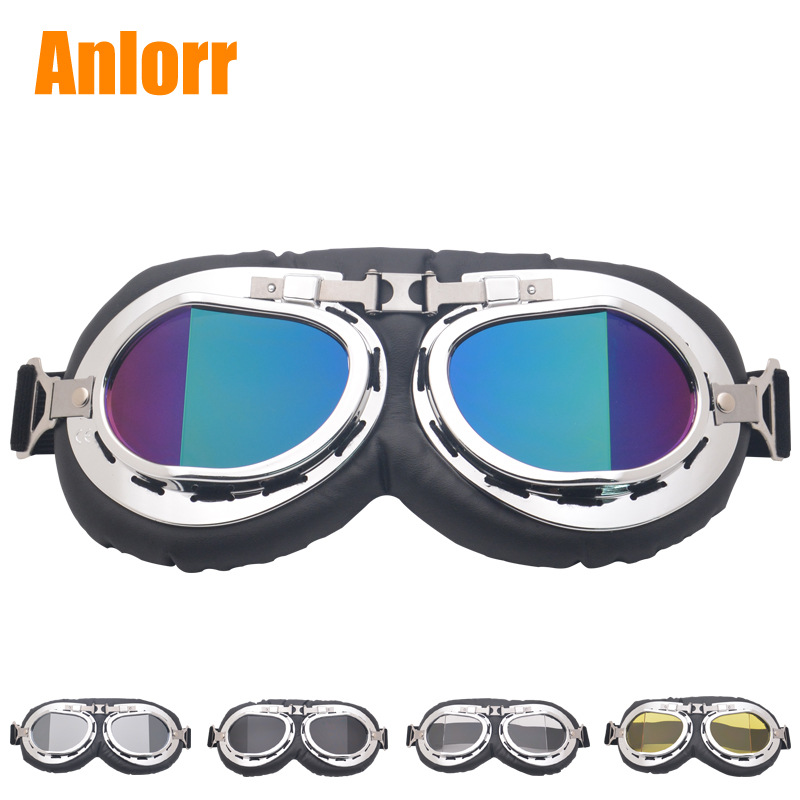Currently Available Wholesale Retro Break Angle Harley Goggles Motorcycle Off-road Goggles Bicycle Glass Sports Riding Eye-prote