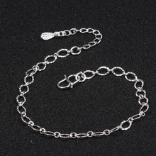 New Fashion Exquisite Small Egg Shaped Ankle Chains 925 Sterling Silver Simple Chain Anklets For Women Jewelry Anklet Bracelet