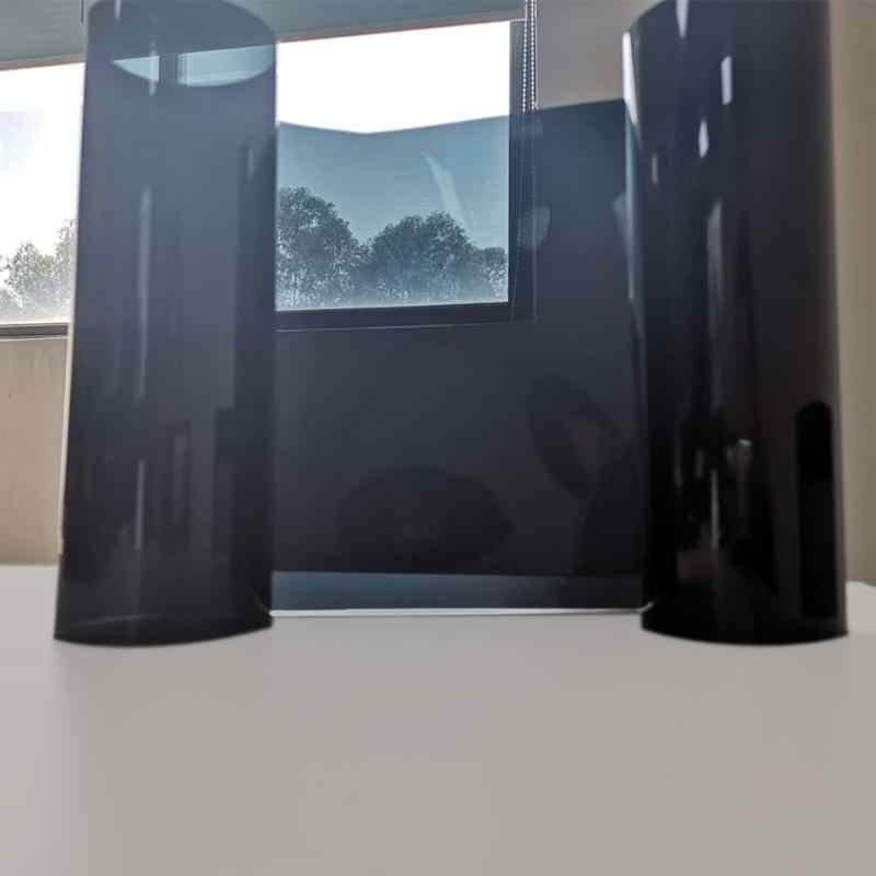Gorąca sprzedaż barwiona folia na okno klasyczny delikatny 20x150cm czarny folia na okna samochodu 5% lato Auto szyba okienna ochrona przeciwsłoneczna