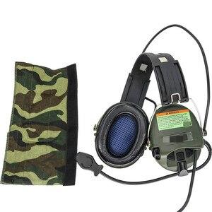 Image 4 - Тактические электронные наушники Sordin с шумоподавлением, наушники для страйкбола, военные тактические наушники Softair Walkie Talkie Headse FG