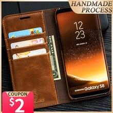 Musubo lüks kapak kılıf Samsung Galaxy S20 Ultra S20 artı S10 S10 + S10E S9 S9 + kapak muhafaza kart yuvası Coque çapa