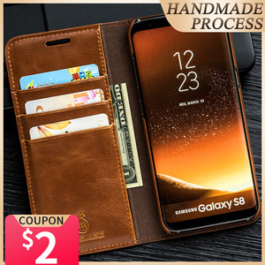 Image 1 - Musubo étui en cuir à rabat de luxe pour Samsung Galaxy S20 Ultra S20 Plus S10 S10 + S10E S9 S9 + housse boîtier fente pour carte Coque Capa