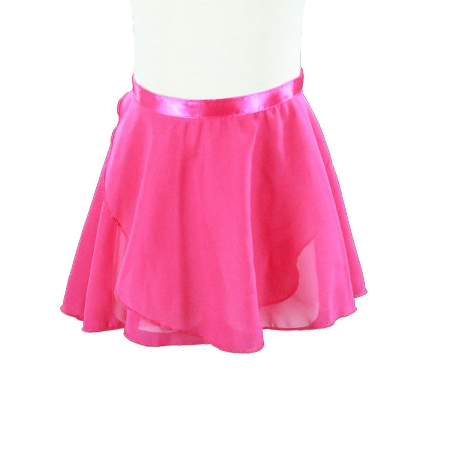Ballet Dance Skirt rose red Adult Children Chiffon Pure Color Floral Print Practice Leotard Dance Dress girl Ballet Dance Dress