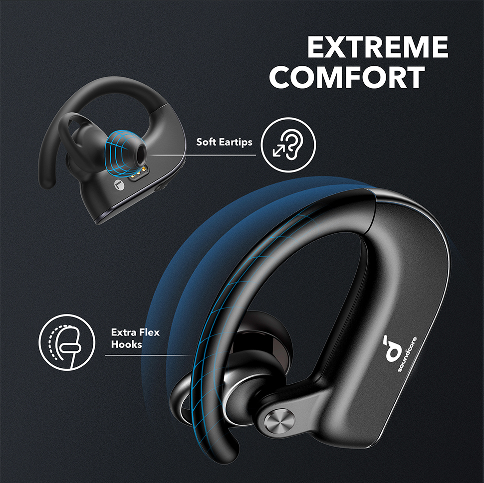 Anker Soundcore Spirit X2, True Wireless Earbuds, Body-Moving Bass, IP68 Sweatproof, 36H Playtime, CVC 8.0 Clear Calls