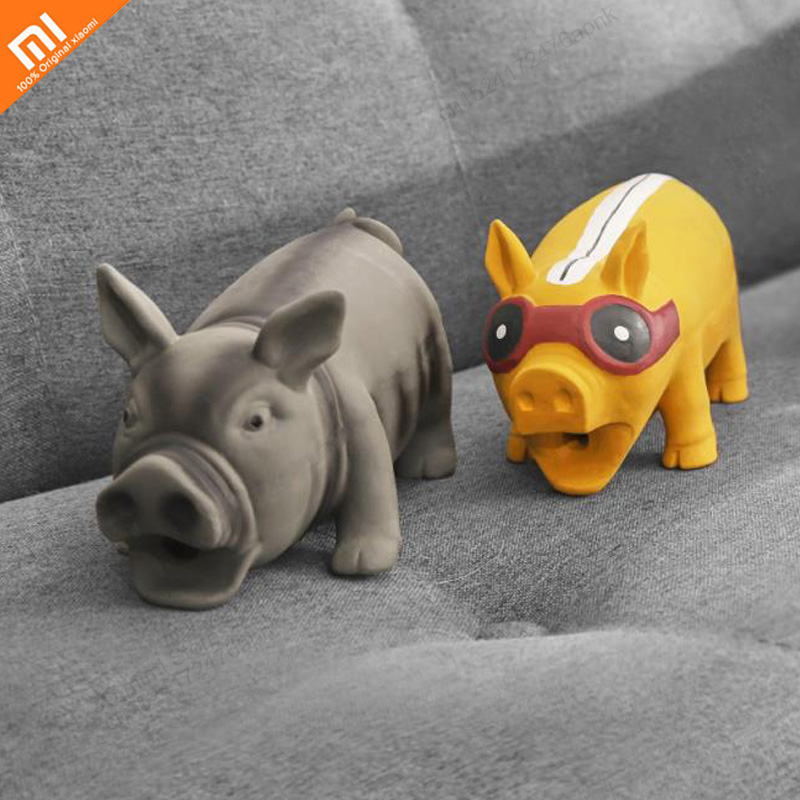 Xiaomi new font b pet b font dog toy squeak squeeze sound pig toy durable chew
