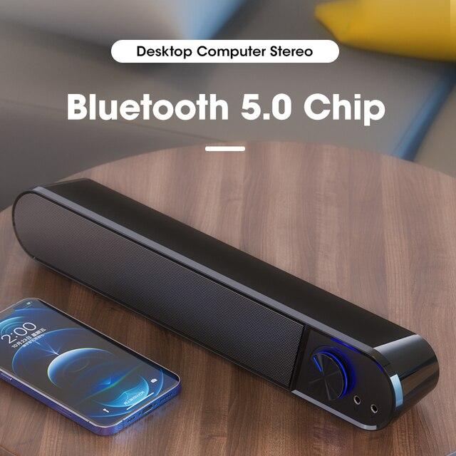 Computer Speakers 4D Stereo Surround Soundbar Bluetooth Speaker for PC Laptop Notebook Home Theater Full Range Loudspeakers 2