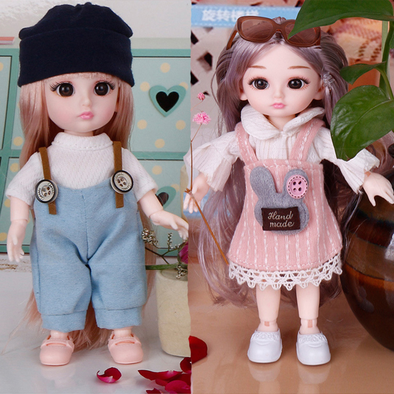 16cm Beauty BJD Doll 13 Moveable Jointed Dolls Lovely Cute Bjd Doll with Clothes and Shoes Dress Up Dolls Toy for Girls Gift