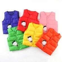 Детский комплект От 1 до 8 лет, новая зимняя верхняя одежда для маленьких мальчиков и девочек, Повседневный свитер с рисунком, детский жилет, пальто, верхняя одежда