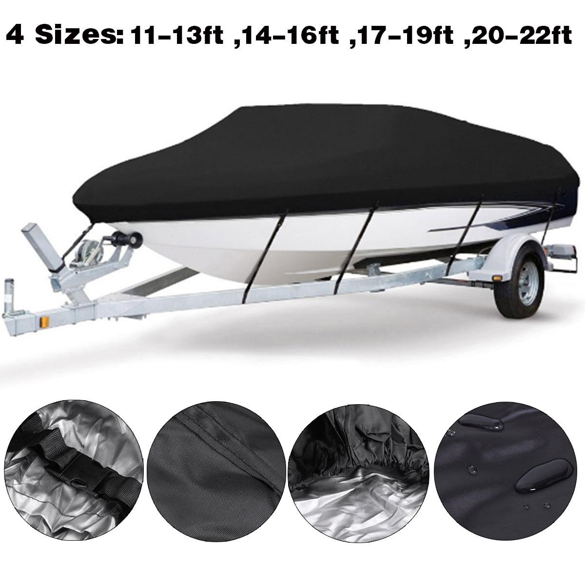 Boat Cover Anti-UV Waterproof Heavy Duty 210D Marine Trailerable