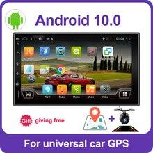PX6 4GB + 64GB 2din 1 DIN car radio gps 안드로이드 10 카 스테레오 플레이어 레코더 라디오 튜너 GPS 네비게이션 지원 SWC DSP HDMI