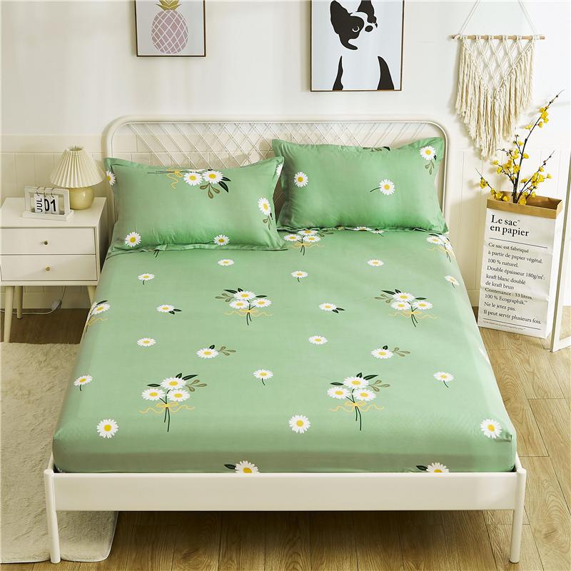 Авокадо постельное белье 1 шт простыней на кровать зеленый авокадо печатных простыня наматрасник с Эластичная лента постельного белья (без наволочки)-4
