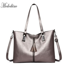 Mododiino Tassel Ladies Handbag Women Bag Soft Leather Crossbody New Elegant Shoulder Red Top-Handle DNV1208
