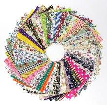 Tissu en coton à imprimé Floral, 50 pièces assorties, carré, pour couture, quilt, Patchwork, couture, matériel fait à la main, bricolage